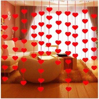 Non-woven Garland Love Heart Curtain Wedding Supplies WeddingDecoration Room - intl