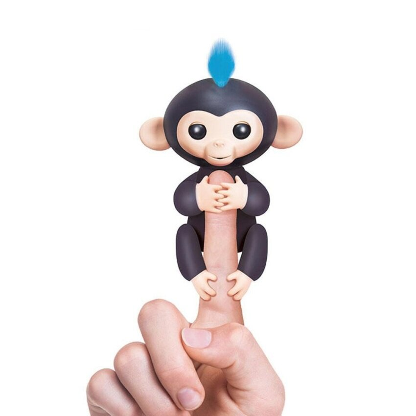 nonof Fingerlings Interactive Baby Monkeys, Little Baby Fingerlings Pet Electronic Monkey Children Kids Toy, Black - intl image