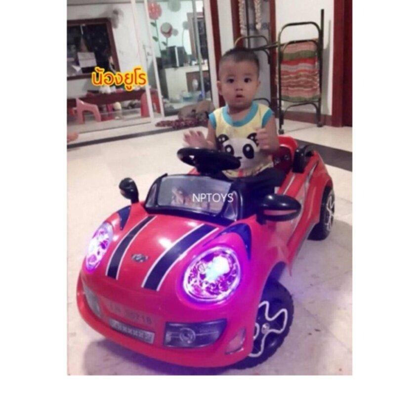 NP Toys รถแบตเตอรี่ รถเด็กนั่ง มินิจัสติน (สีแดง)