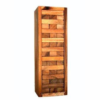 ของเล่นไม้ Number Block (Size M) Wooden JenGa Game (เกมส์คอนโดถล่ม)54 Pcs