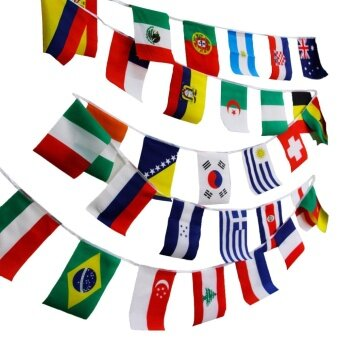 Olympic Games Party Event Sports Bar Supplies 50 Countries 1 String - intl