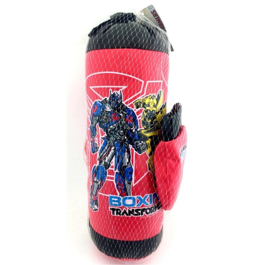 One Price Toys - Boxing Set Transformers - ชุดกระสอบทราย และ นวมต่อยมวย ชกมวย ของเด็กเล็ก รุ่นทรานฟอร์เมอร์ - สีดำ