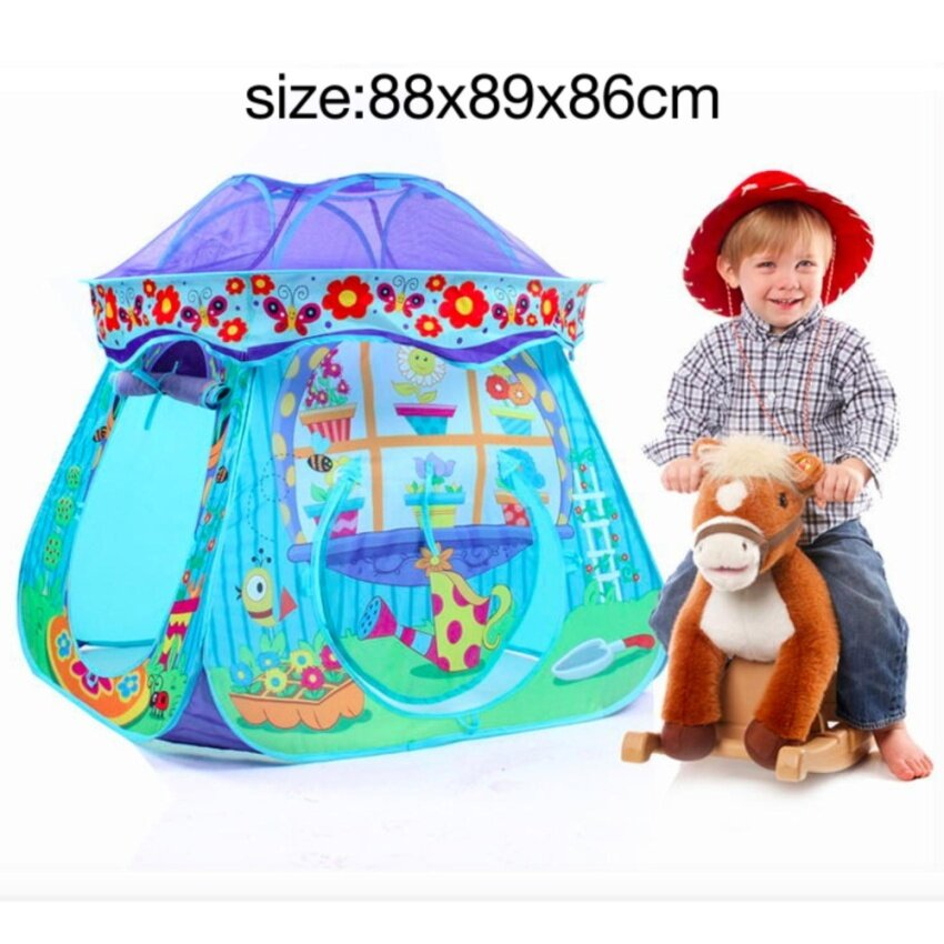 Outdoor Play Toys Portable Playhouse Play Tent Balls Pool for Boys (Blue) - intl