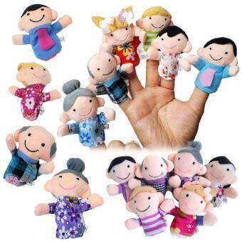 PAlight 6 Pcs/ set Story Finger Puppets Toy 6 People Family MembersEducational Toys for Children Kids Birthday Christmas Gifts - intl