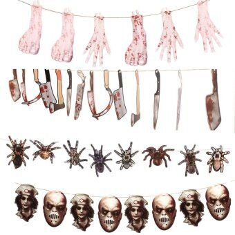 Party Halloween Bloody Horror Props Pendant Severed Limbs Ghost Head Decoration - intl