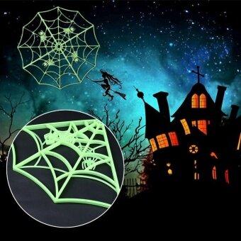 Party Halloween Spiderweb Luminous Prop Celebration Tricks JokesPranks Funny - intl