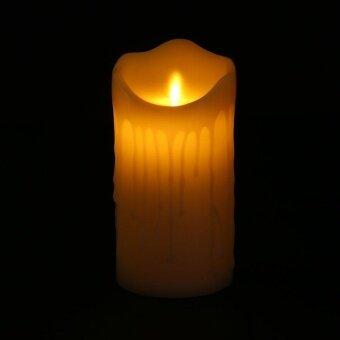 Party Romantic Electronic LED Candle Light Flameless WaveringDecoration 7.5*15CM - intl