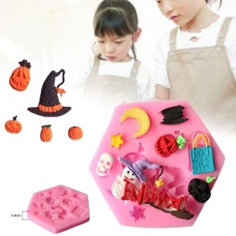 Party Silicone 3D Halloween Fondant Mould Cake Candy CookiesChocolate Baking - intl