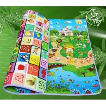 Patricks Kids Animals and ABC Playmats แผ่นรองคลาน เสื่อรองคลาน ลาย สัตว์ต่างๆ และเอบีซี ความหนา 2 ซม. ขนาด 180*200*2 cm.