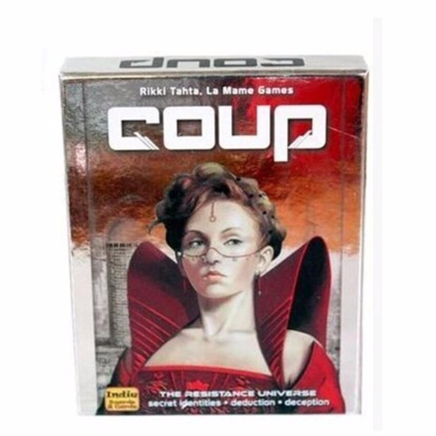 PentaQ Coup Reformation Board Game 2-6 Players For Party/Family ,Englishand Chinese Edition Easy To Play Christmas Party Play - intl image