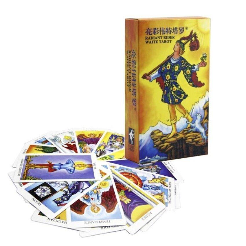 PentaQ Radiant Rider Waite Tarot Cards 78Pcs English Cards - intl