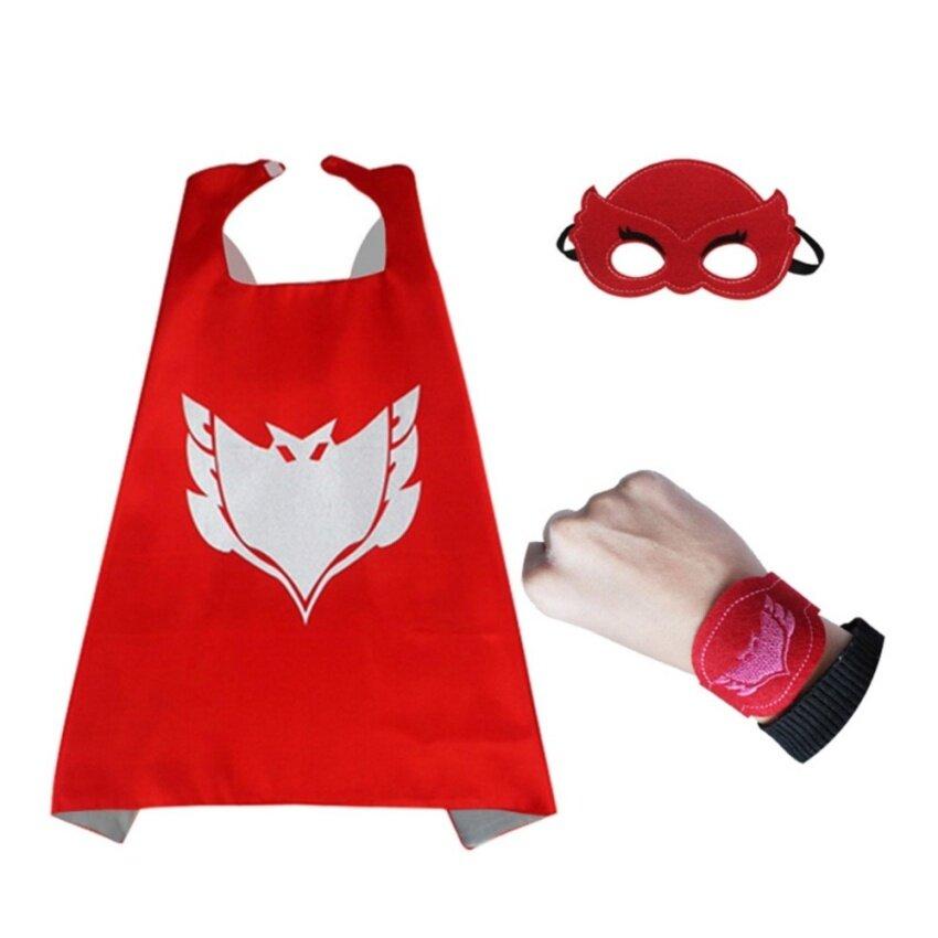 PJ Costumes for Kids 4pcs/set PJ Cloak Cape and Mask Owlette Catboy - intl
