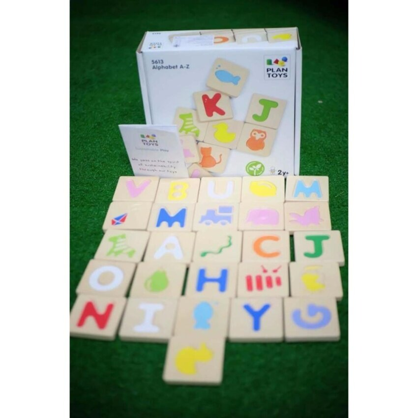 PlanToys ของเล่นไม้ Alphabet A-Z (GRADIENT) เรียนรู้ตัวอักษร A ถึง Z