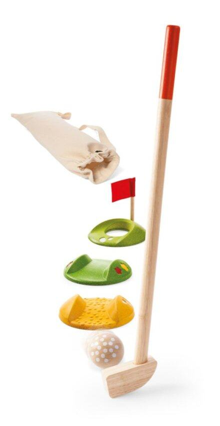 PlanToys Mini Golf ชุดกอล์ฟเล็ก กีฬา Wooden Toy ของเล่นไม้ แปลนทอยส์ เสริมสร้างการเรียนรู้