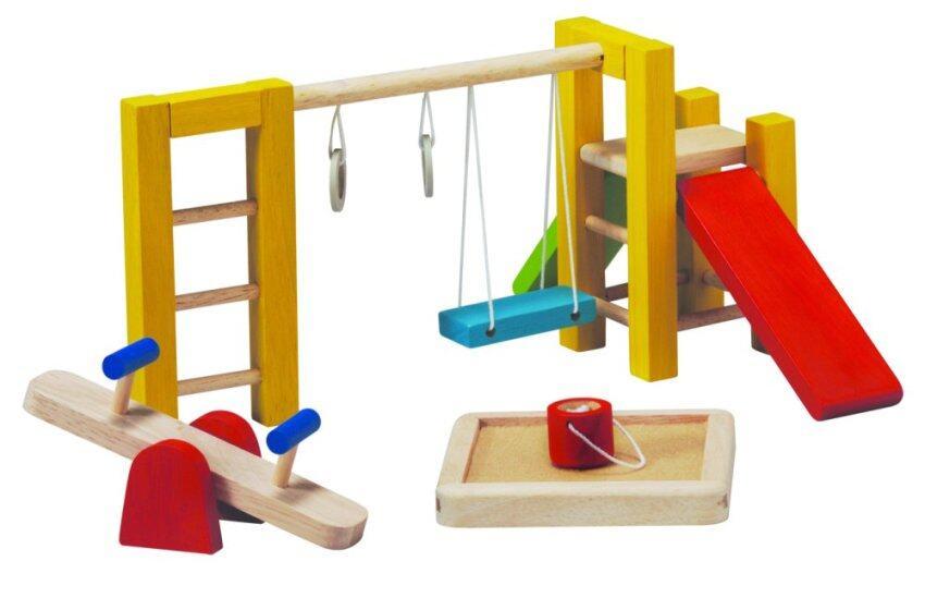 PlanToys PLAYGROUND ชุด สนามเด็กเล่น เฟอร์นิเจอร์สำหรับบ้านตุ๊กตา ของเล่นไม้ แปลนทอยส์ เสริมสร้างการเรียนรู้ และจินตนาการ