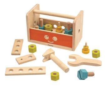 PlanToys ของเล่นไม้ ROBOT TOOL BOX กล่องหุ่นยนต์ช่าง ของเล่นไม้