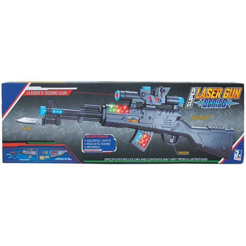 Play Usปืนยิงเสียงมีไฟ-เรเซอร์(กล่อง)รุ่น738+