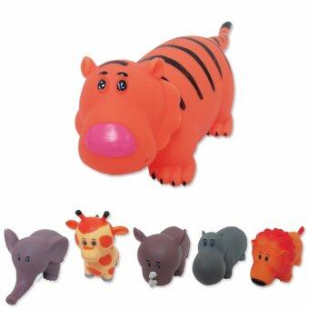 Play Usของเล่นสัตว์ยางบีบ เสือ รุ่นLT313-3Orange