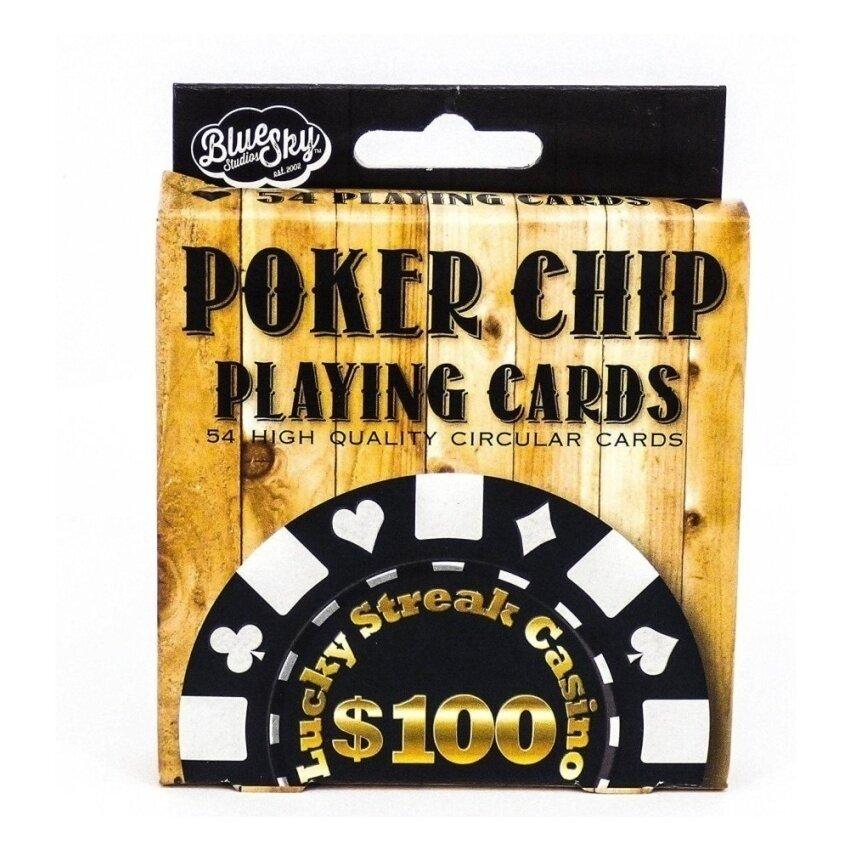 Poker Chip Playing Cards Circular Casino Design - intl