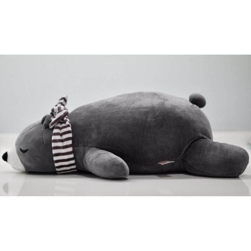 Polar Bear #Grey #ตุ๊กตาหมี (M) สีเทา ขนาด 48 cm