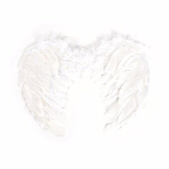 Pop Fashion Feather Wings Angel Fairy Fancy Dress Costume Halloween Party Favor White 55*40 Cm - intl