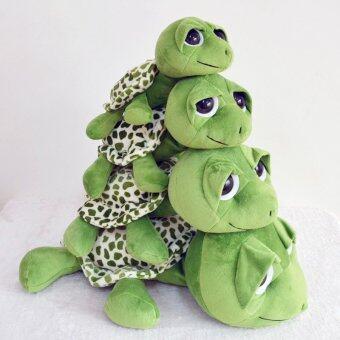 ของเล่นเด็กน่ารัก ๆ เต่าที่มีตุ๊กตาเต่าของเล่นผ้าพลัฌตาโตรองเขนย