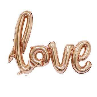 ความรักทำลายงานฉลองวันวาเลนไทน์การตกแต่งบอลลูนทองแชมเปญ