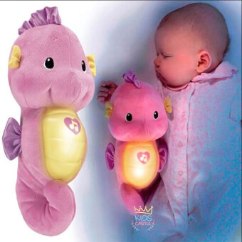 ตุ๊กตาม้าน้ำกล่อมนอนสีชมพู