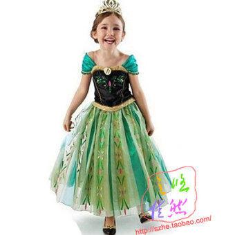 น้ำแข็งและหิมะฮาโลวีนสาวแสดงงานปาร์ตี้เด็กเครื่องแต่งกายเจ้าหญิงเสื้อผ้า