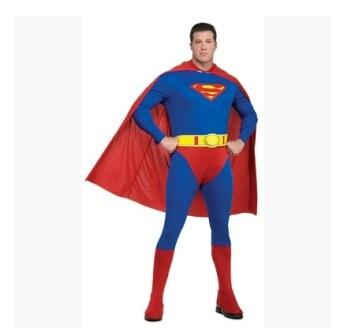 ซูเปอร์แมนเด็กผู้ใหญ่เสื้อคลุมเสื้อคลุมเครื่องแต่งกาย