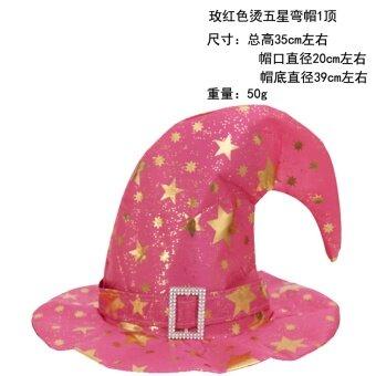 ฮาโลวีนฟักทองข้อศอกหมวกแม่มดตัวช่วยสร้างหมวกหมวก