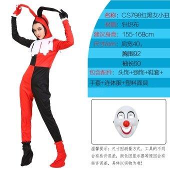 ผู้ใหญ่ฮาโลวีนเครื่องแต่งกายตัวตลกตัวตลกเสื้อผ้า