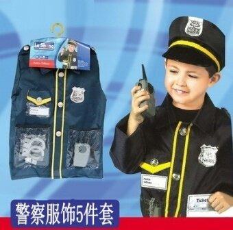 ตำรวจคริสมาสต์เด็กแพทย์เล่นอุปกรณ์ประกอบฉากการถ่ายภาพ