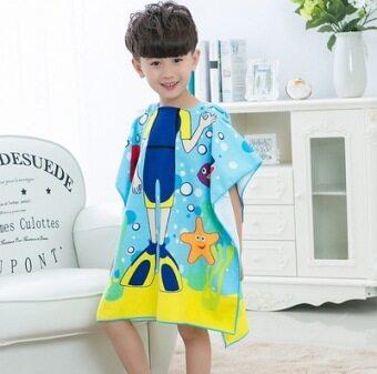 สปาการ์ตูนขนาดใหญ่ผ้าขนหนูเด็กชายและเด็กหญิงเสื้อคลุมอาบน้ำเด็กผ้าขนหนูอาบน้ำ