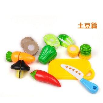 ทารกเด็กตัดผักผลไม้ผลไม้ของเล่น