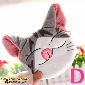 หวานการ์ตูนอะนิเมะชีสแมวแมวแพคเกจบัตรกระเป๋าสตางค์ตุ๊กตา