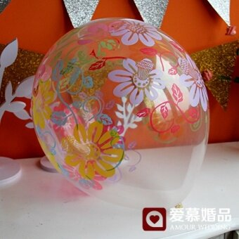 ทารกเกาหลีโปร่งใสจัดงานแต่งงานวันเกิดลูกโป่งบอลลูนพิมพ์บอลลูน