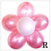 ดอกไม้รวมกันบอลลูนลูกโป่งมุก
