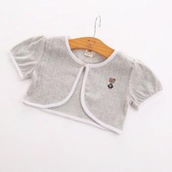 ทารกเกาหลีขนาดเล็กเสื้อคลุมเครื่องปรับอากาศครีมกันแดดเวตเตอร์ถักผ้าคลุมไหล่