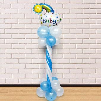 ทารกจัดวันเกิดลูกโป่งอายุถนนนำ