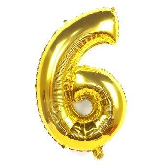 ทองดิจิตอลขนาดใหญ่ที่มีอายุต่ำลูกโป่งงานปาร์ตี้ลูกโป่งอลูมิเนียม