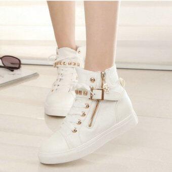 ฤดูใบไม้ผลิและฤดูใบไม้ร่วงสูงด้านบนหญิงหนุ่มใหญ่รองเท้าผ้าใบหญิงรองเท้าเด็ก