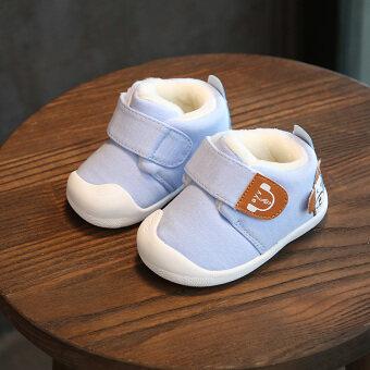 การ์ตูนบวกกำมะหยี่ระบายอากาศสำหรับผู้ชายและผู้หญิงทารกรองเท้าผ้าฝ้ายเบาะทารกรองเท้าผ้าฝ้ายเบาะ