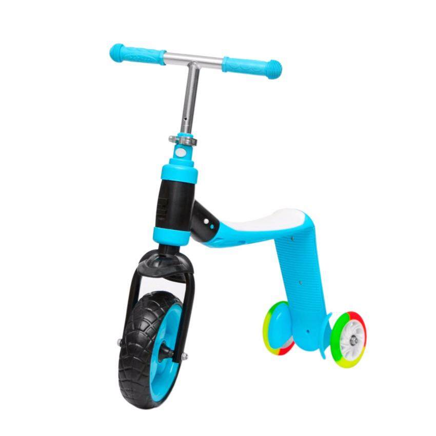 Promark สกู๊ตเตอร์ 3 ล้อ 2 in 1 Scooter & Balance Bike 2 in 1 with Mode Change(Blue)