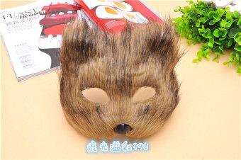 สุนัขจิ้งจอกขนาดเล็กสัตว์สำหรับผู้ชายและผู้หญิงครึ่งใบหน้า props หน้ากากแมวหน้ากาก