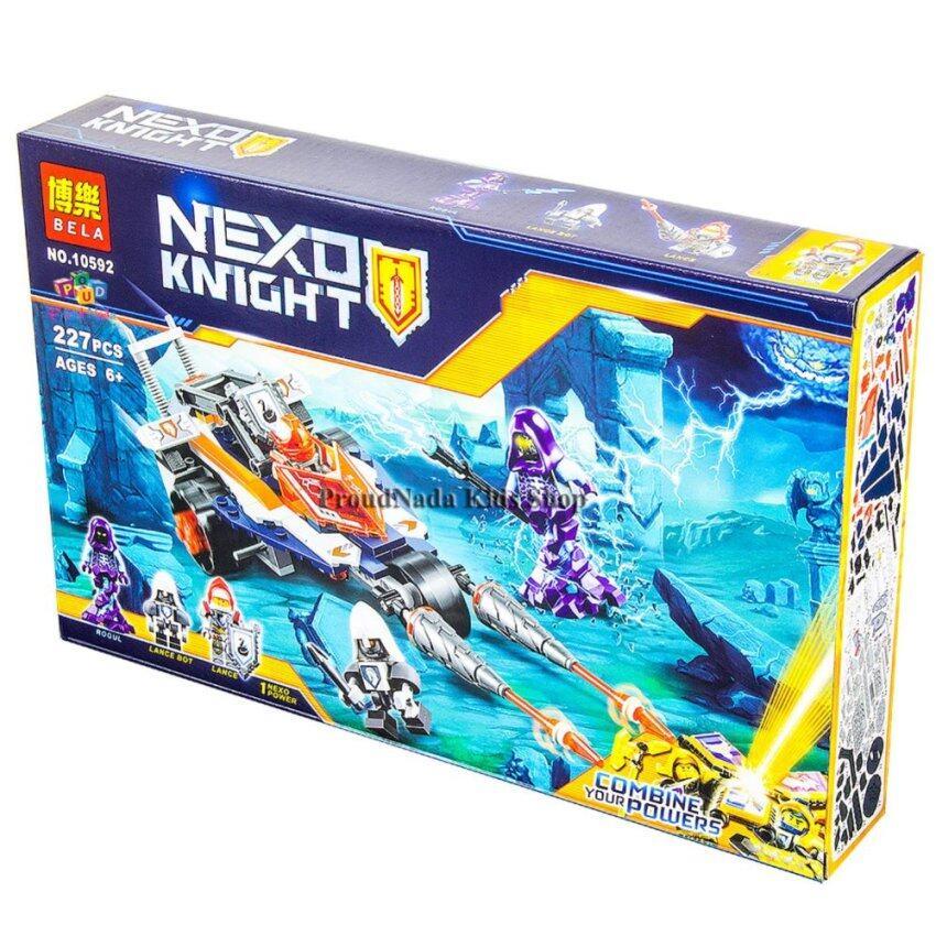 ProudNada Toys ของเล่นเด็กชุดตัวต่อเลโก้อัศวิน BELA NEXO KNIGHT 227 PCS NO.10592