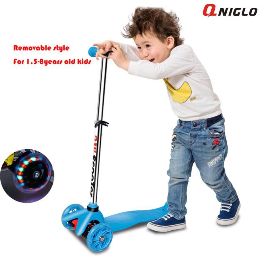 QNIGLO Young Style adjustable Wheel Balance Kick Scooter with Flash Wheels