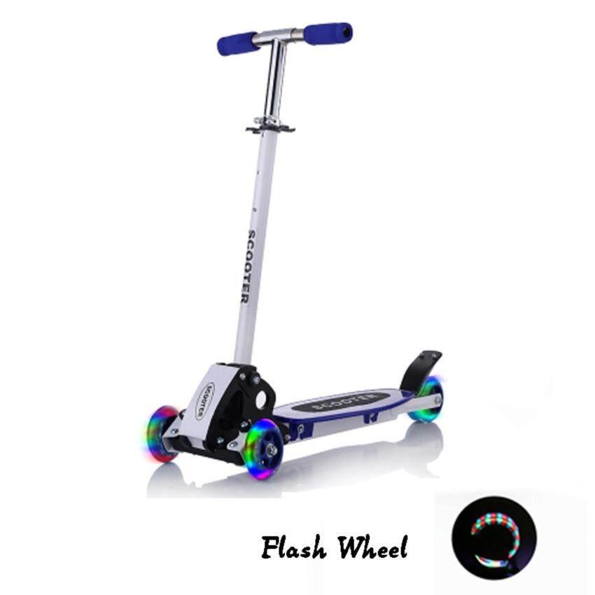 สกู๊ตเตอร์ QNIGLO Young Style Foldable Wheel Balance Kick Scooter with Flash Wheels image