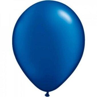 Qualatex 11 Pearlized Sapphire Blue Latex Balloons (10 ct) - intl