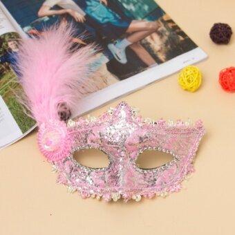 Queen Venetian Masquerade Mask วันฮาโลวีนฮาโลวีน Dance สาวปาร์ตี้